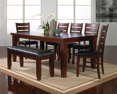 Dining Room Set Bench by Crown Mark Bardstown Dining Room Set Dining Room Sets