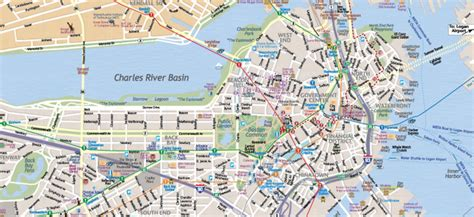 map of boston map of boston massachusetts interactive and printable