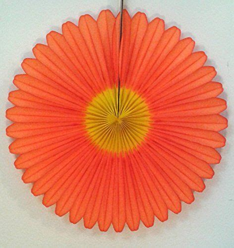 How To Make Tissue Paper Daisies - 20 quot honeycomb tissue paper fan 3 pack orange by
