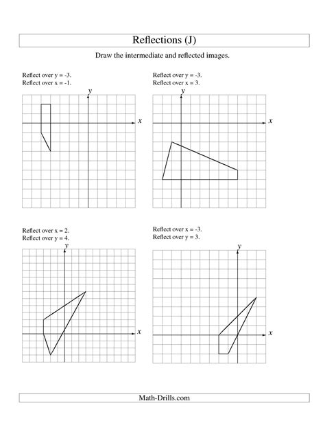 printable math worksheets reflections 12 best images of reflection math worksheets reflection