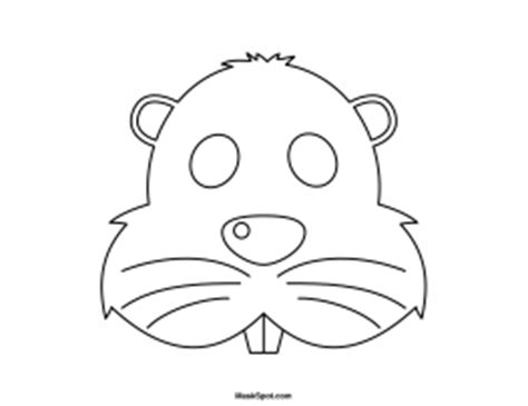 beaver mask to color school holidays pinterest