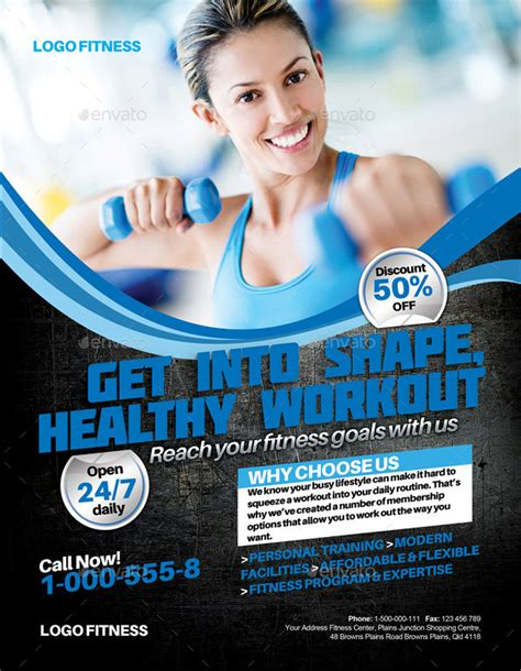 Fitness Flyer Template 20 premium sports flyer template designs