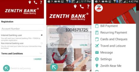 zenith bank banking app for android iphone