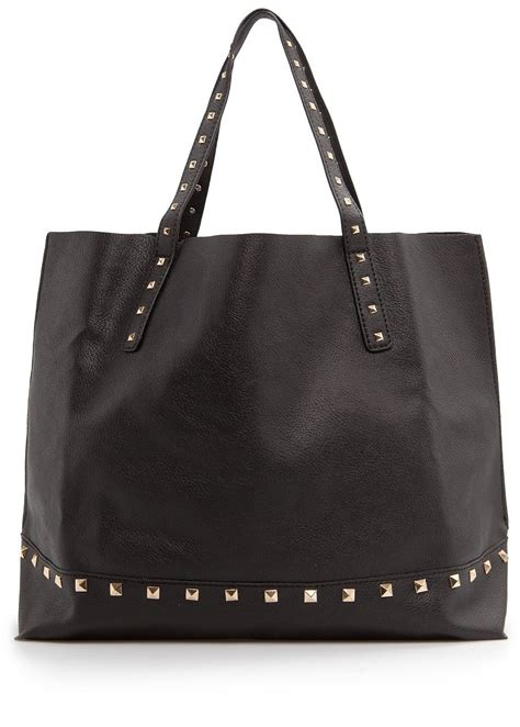 Original Mango Studed Bag mango studded shopper bag in black lyst