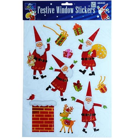 jolly santa window stickers bright ideas crafts