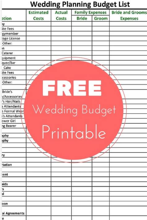 Wedding Planner Checklist Nz by Free Wedding Planning Budget Checklist Printable