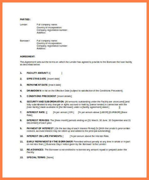 intercompany loan agreement template 6 sle intercompany loan agreement company letterhead