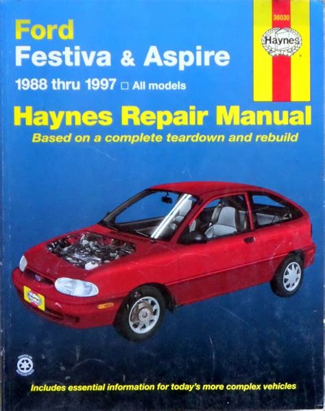 1997 venture all models service and repair manual tradebit haynes ford festiva aspire 1988 thru 1997 all models repair manual book 1563922878 ebay