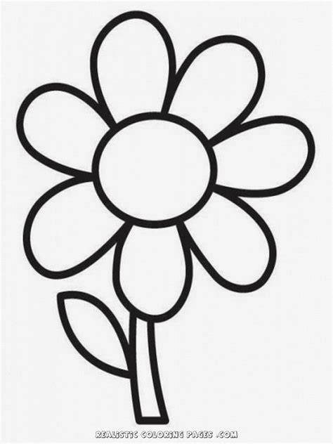 easy coloring pages flowers free simple flower coloring pages