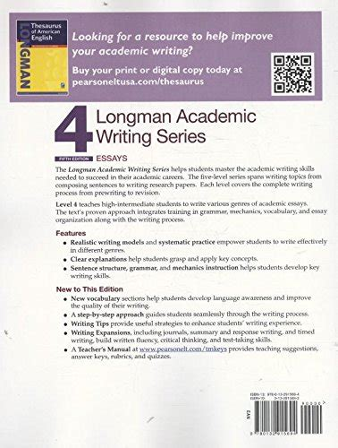 The Writing Faculty Reviews by Longman Academic Writing Series 4 Essays 5th Edition