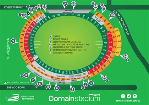 subiaco oval seating map seating venue maps 187 domain stadium