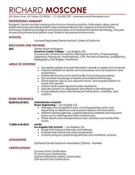 dental assistant duties for resume best resume exle