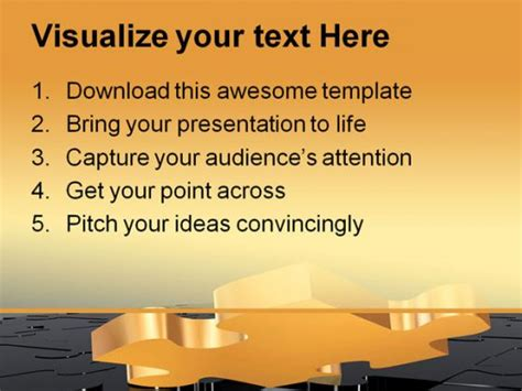 powerpoint themes disappeared missing puzzle business powerpoint template 0510