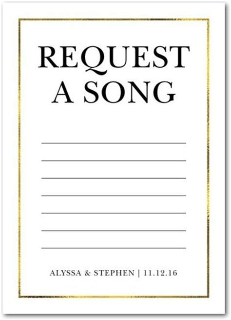 Wedding Song Request Form by 17 Best Images About Wedding On Engagement
