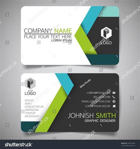 design id card modern green blue modern creative business card stock vector