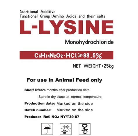 L Lysine Hcl 98 5 l lysine hcl 98 5 lysine sulphate 70 feed grade amino