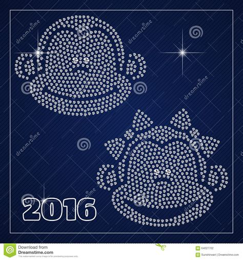 New Year Place Cards Templates by Rhinestone Season Template Stock Vector Image