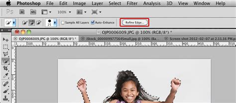 photoshop cs5 tutorial refine edge tool team think labs become a master masker with the refine