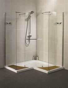 aqualux aquaspace corner walk through shower enclosure 1500mm