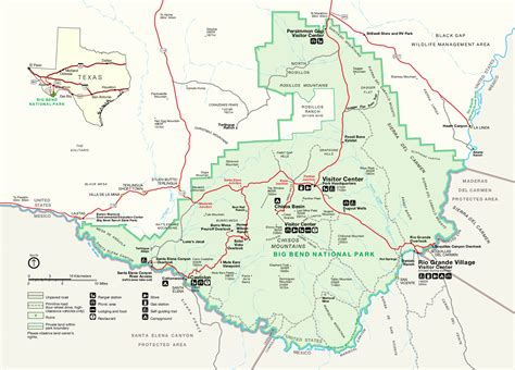 big bend national park texas map big bend national park map map3