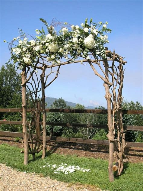 Wedding Arches Made Of Tree Branches Natural Arch Jennifer Amp Evan Pinterest