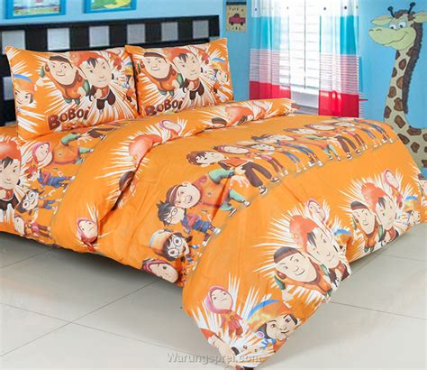 Sprei Katun Boy sprei panca boboi boy and friens orange warungsprei
