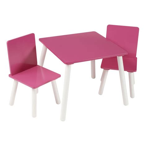 pink table and chairs kidsaw blush pink and white table and chairs set