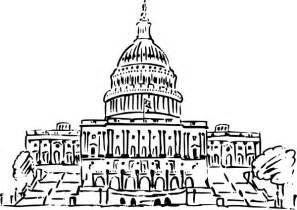 Capital Building Us Capitol Building Inkpen Style Clip At Clker