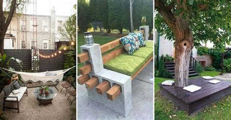 easy  cheap backyard seating ideas page