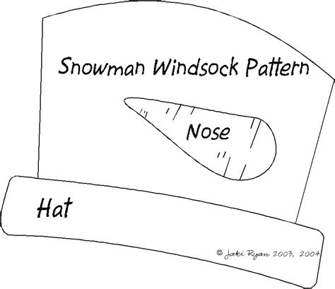 windsock template snowman paper crafts templates
