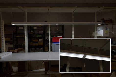 linkable led shop lights direct interconnect for 4 linkable shop light garage