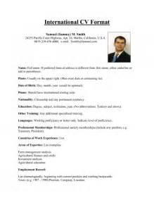 Resume International Format The Incredible Resume For Overseas Job Resume Format Web