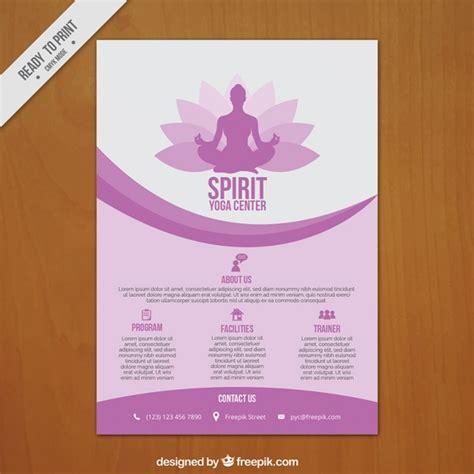 Yoga Plakat Kostenlos by Lila Wellen Yoga Zentrum Plakat Download Der Premium Vektor