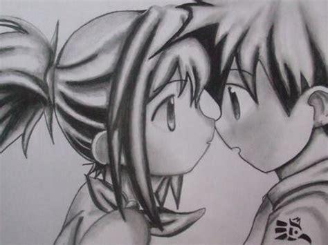 imagenes de anime love kiss anime love kiss a lapiz imagui