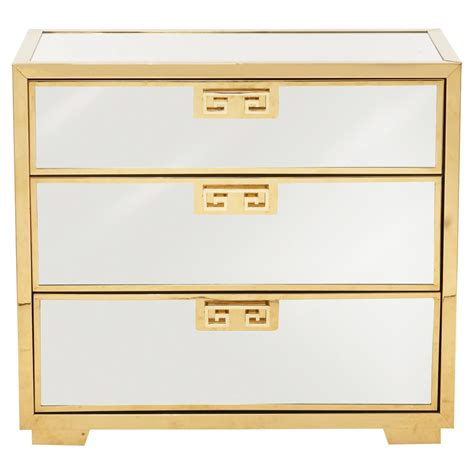 mirrors nightstands mercer mirrored polished gold key nightstand kathy