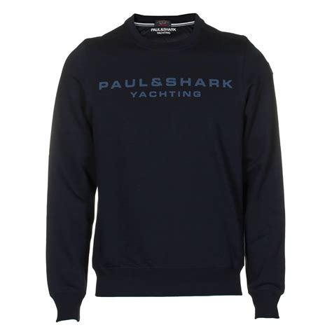 Korean Sweatshirt Anthony Navy paul shark sweatshirts crew neck sweatshirt in navy anthony mens designer clothes