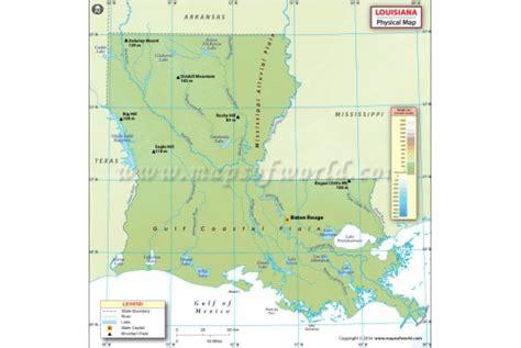 louisiana physical map buy physical map of louisiana