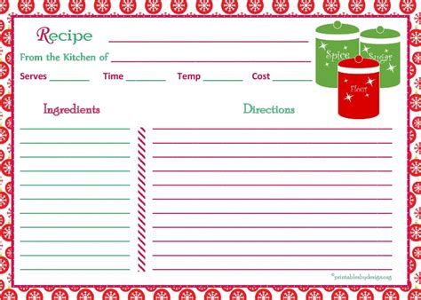 recipe costing card template card template form printable costing sheet set vector