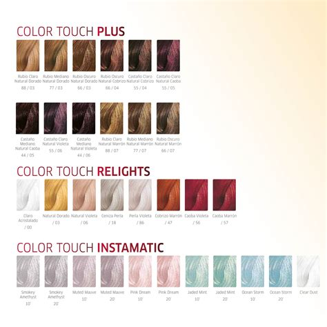 color touch wella color touch wella carta de colores