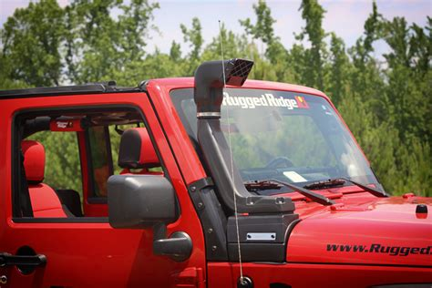 rugged ridge xhd snorkel install kc hilites and rr snorkel jeep wrangler forum
