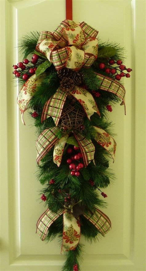 christmas swags for doors 153 best wreaths swags images on deco mesh wreaths garlands and crafts