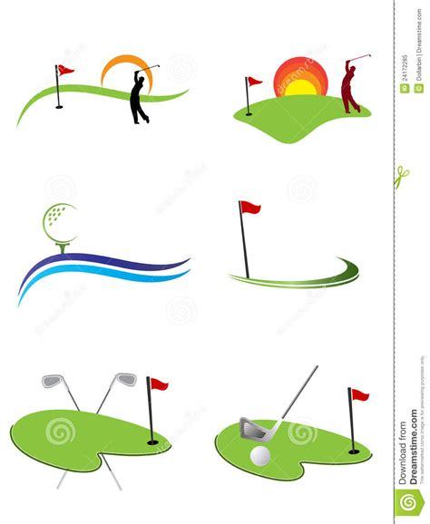 free golf logo design golf logos royalty free stock photo image 24172285