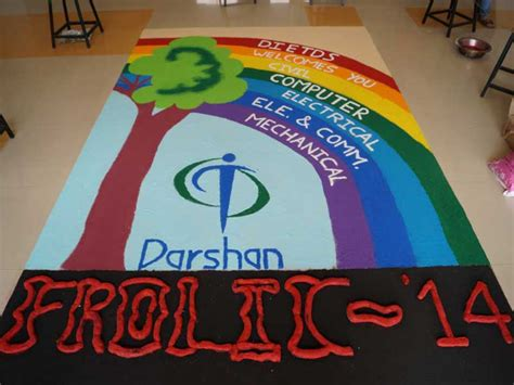 education theme based dance rangoli competition