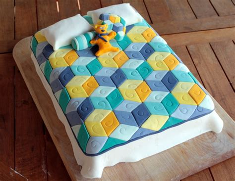 How To Quilt A Cake by Tumbling Blocks Quilt Cake Flour Arrangements