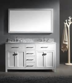 Usa caroline 60x22 double sink bathroom vanity in white on sale online