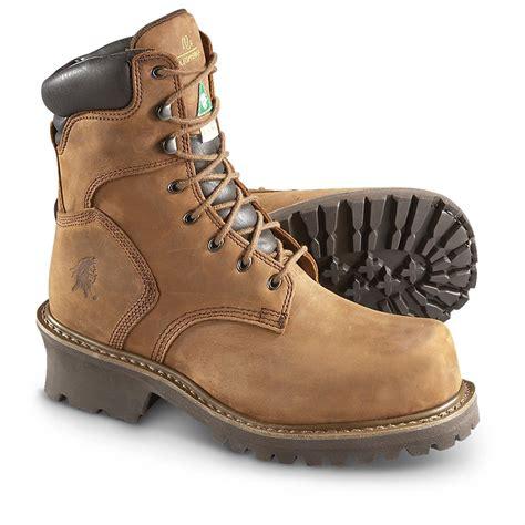 chippewa mens work boots s chippewa boots iq 8 quot steel toe logger boots brown