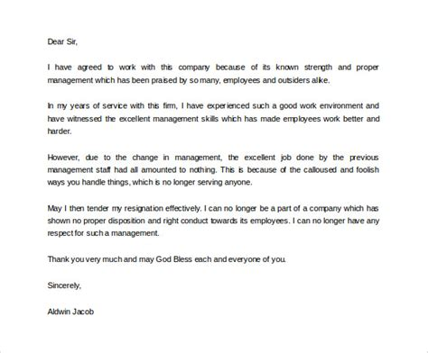 Professional Resignation Letter In Pdf Formal Resignation Letter 16 Free Documents In Word Pdf