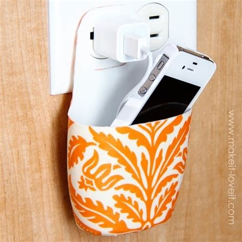 diy phone charger holder for charging cell phone diy and crafts pinterest