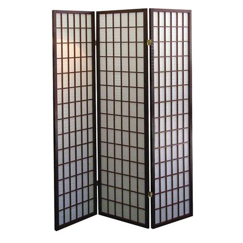 panel room dividers home decorators collection 5 83 ft cherry 3 panel room divider r566 the home depot