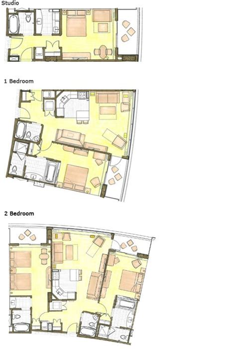 Disney Club 2 Bedroom Villa Floor Plan - aulani 2 bedroom villa floor plan decorating interior of